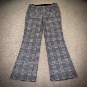 Free People Plaid Front Pocket Pants Slacks 10
